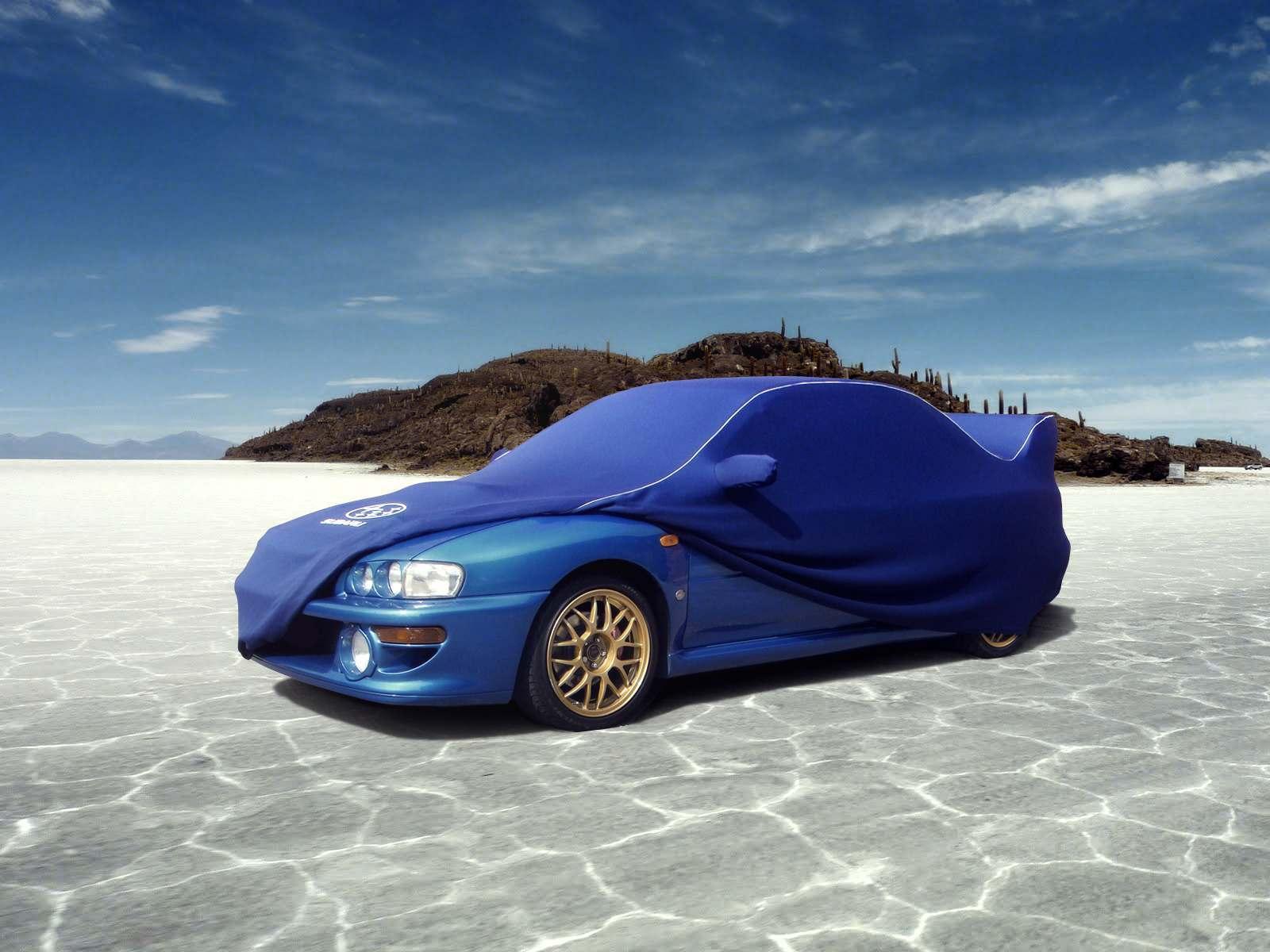 Subaru in blue