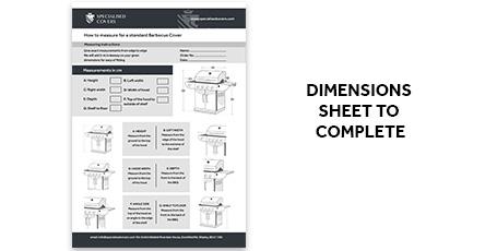 BBQ Dimensions Sheet