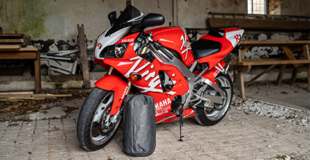 Motorbike cover storage bag
